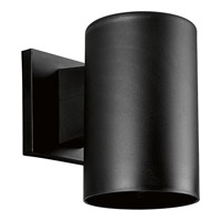 Cylinder 1 Light 7 inch Black Outdoor Wall Lantern
