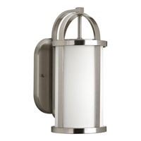 Progress Lighting Greetings 1 Light Outdoor Wall Lantern in Brushed Nickel P5719-09