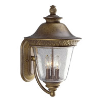 Progress Lighting Savannah 3 Light Outdoor Wall in Burnished Chestnut P5720-86