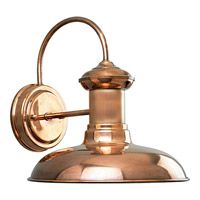 Brookside 1 Light 11 inch Copper Outdoor Wall Lantern