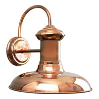 Brookside LED 12 inch Solid Copper Outdoor Wall Lantern