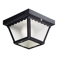 Signature 1 Light 8 inch Black Outdoor Ceiling Lantern