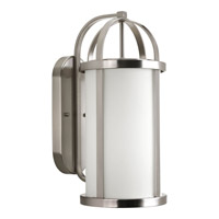 Progress Lighting Greetings 1 Light Outdoor Wall Lantern in Brushed Nickel P5728-09
