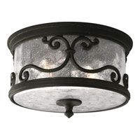 Progress Lighting Augusta 2 Light Outdoor Ceiling in Forged Black P5735-80