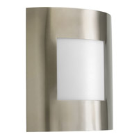 Anson 1 Light 10 inch Brushed Nickel Outdoor Wall Lantern