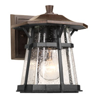 Progress P5749-84 Derby 1 Light 8 inch Espresso Outdoor Wall Lantern in Clear Seeded