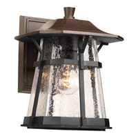 Progress P5750-84 Derby 1 Light 11 inch Espresso Outdoor Wall Lantern in Clear Seeded