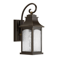 Progress Lighting Maison 1 Light Outdoor Wall Lantern in Oil Rubbed Bronze with Water Seeded Glass P5753-108