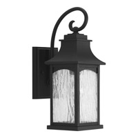 Progress Lighting Maison 1 Light Outdoor Wall Lantern in Black with Water Seeded Glass P5753-31
