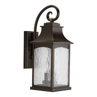 Progress Lighting Maison 2 Light Outdoor Wall Lantern in Oil Rubbed Bronze with Water Seeded Glass P5754-108
