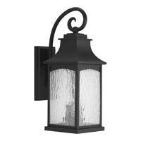 Progress Lighting Maison 2 Light Outdoor Wall Lantern in Black with Water Seeded Glass P5754-31