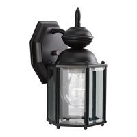 BrassGUARD 1 Light 10 inch Black Outdoor Wall Lantern