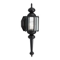 Progress Lighting BrassGUARD 1 Light Outdoor Wall Lantern in Black P5758-31