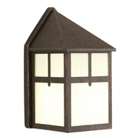 Mission 1 Light 9 inch Weathered Bronze Outdoor Wall Lantern
