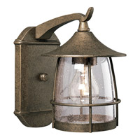 Progress Lighting Prairie 1 Light Outdoor Wall Lantern in Burnished Chestnut P5763-86