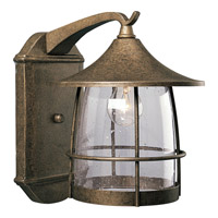 Progress P5764-86 Prairie 1 Light 14 inch Burnished Chestnut Outdoor Wall Lantern
