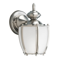 Progress Lighting Roman Coach 1 Light Outdoor Wall Lantern in Brushed Nickel P5766-09