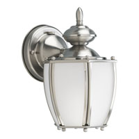 Progress Lighting Roman Coach 1 Light Outdoor Wall in Brushed Nickel P5766-09STR