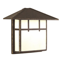 Mission 2 Light 12 inch Weathered Bronze Outdoor Post Lantern