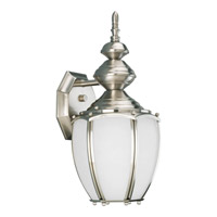 Roman Coach 1 Light 15 inch Brushed Nickel Outdoor Wall Lantern