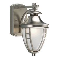 Progress P5775-09 Fairview 1 Light 12 inch Brushed Nickel Outdoor Wall Lantern photo thumbnail