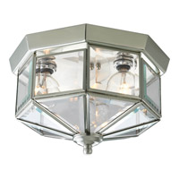 Beveled Glass 3 Light 10 inch Brushed Nickel Close-to-Ceiling Ceiling Light