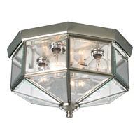 Beveled Glass 4 Light 11 inch Brushed Nickel Close-to-Ceiling Ceiling Light
