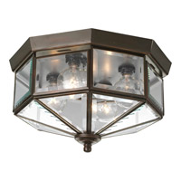 Beveled Glass 4 Light 11 inch Antique Bronze Close-to-Ceiling Ceiling Light