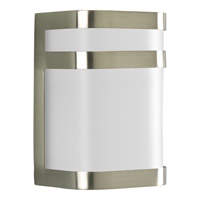 Progress P5800-09 Valera 1 Light 8 inch Brushed Nickel Outdoor Wall Lantern in GU24 CFL alternative photo thumbnail