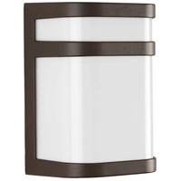 Valera LED 8 inch Architectural Bronze Outdoor Wall Lantern, Matte White Acrylic