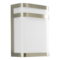 Progress Lighting Valera 1 Light Outdoor Wall in Brushed Nickel P5801-09