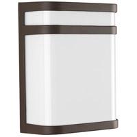 Valera LED 11 inch Architectural Bronze Outdoor Wall Lantern, Matte White Acrylic