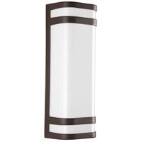 Valera LED 16 inch Architectural Bronze Outdoor Wall Lantern, Matte White Acrylic