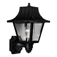 Progress Lighting Mansard 1 Light Outdoor Wall in Black P5814-31