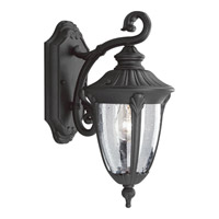 Meridian 1 Light 15 inch Textured Black Outdoor Wall Lantern