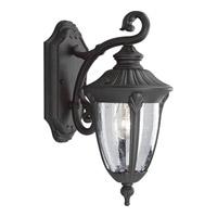 Progress P5820-31 Meridian 1 Light 15 inch Textured Black Outdoor Wall Lantern