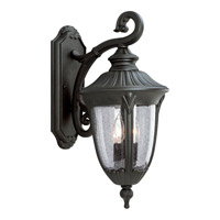 Progress Lighting Meridian 2 Light Outdoor Wall in Textured Black P5822-31