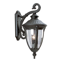 Meridian 3 Light 27 inch Textured Black Outdoor Wall Lantern