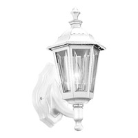 Cast Aluminum 1 Light 15 inch White Outdoor Wall Lantern