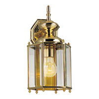 BrassGUARD 1 Light 14 inch Polished Brass Outdoor Wall Lantern