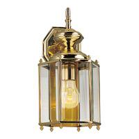 Progress P5832-10 BrassGUARD 1 Light 14 inch Polished Brass Outdoor Wall Lantern