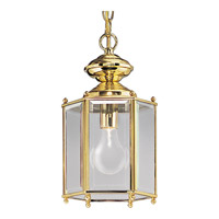 Beveled Glass 1 Light 7 inch Polished Brass Outdoor Ceiling Lantern