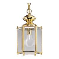 Progress P5834-10 Beveled Glass 1 Light 7 inch Polished Brass Outdoor Ceiling Lantern