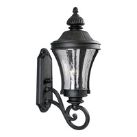 Nottington 3 Light 25 inch Gilded Iron Outdoor Wall Lantern