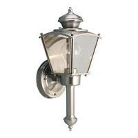 Progress Lighting BrassGUARD 1 Light Outdoor Wall in Brushed Nickel P5846-09