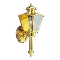 Progress Lighting BrassGUARD 1 Light Outdoor Wall Lantern in Polished Brass P5846-10 photo thumbnail