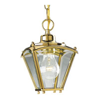 Progress Lighting Beveled Glass 1 Light Outdoor Ceiling in Polished Brass P5847-10