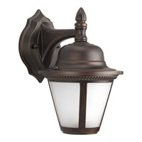 Westport LED 7 inch Antique Bronze Outdoor Hanging Lantern in Integrated LED, Etched Seeded