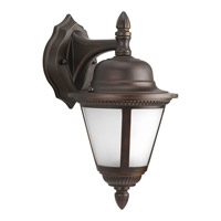 Progress P5862-20WB Westport 1 Light 13 inch Antique Bronze Outdoor Wall Lantern in Bulbs Included Etched Seeded