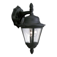 Westport 1 Light 13 inch Textured Black Outdoor Wall Lantern in Bulbs Not Included, Clear Seeded